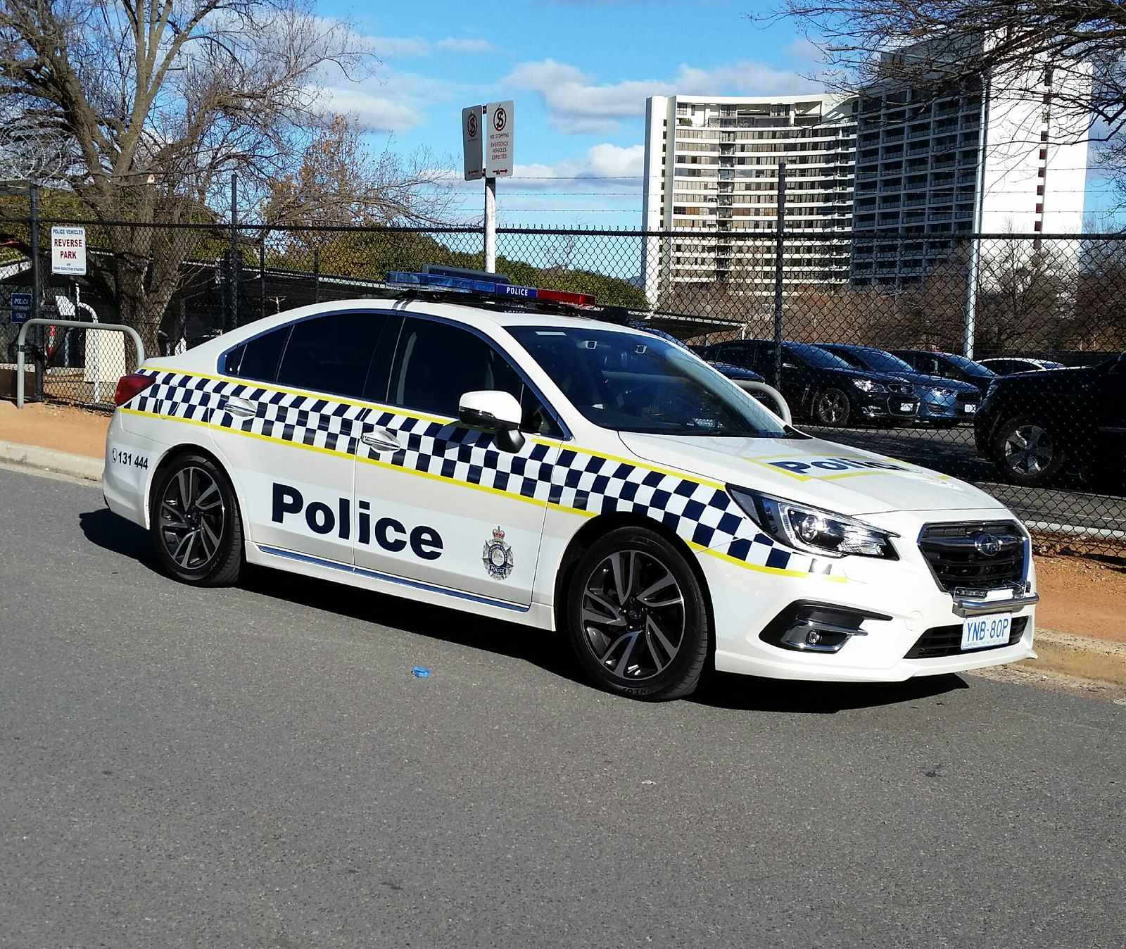 New Act Police Subaru Liberty With A Return To The Checkered Markings Subaru Police Police Cars