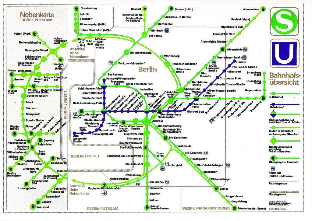 Le Mur De Berlin Explique Par Les Cartes Du Metro Carte Du Metro