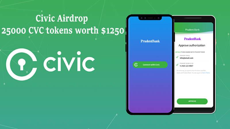 Civic Airdrop Claim 25 000 Free Cvc Tokens Cvc Token Android Phone Hacks