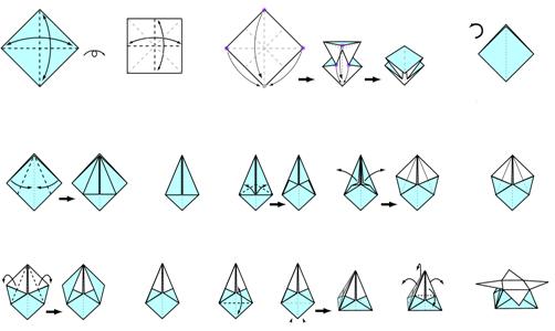 Origami Instructions Stars Box 3D