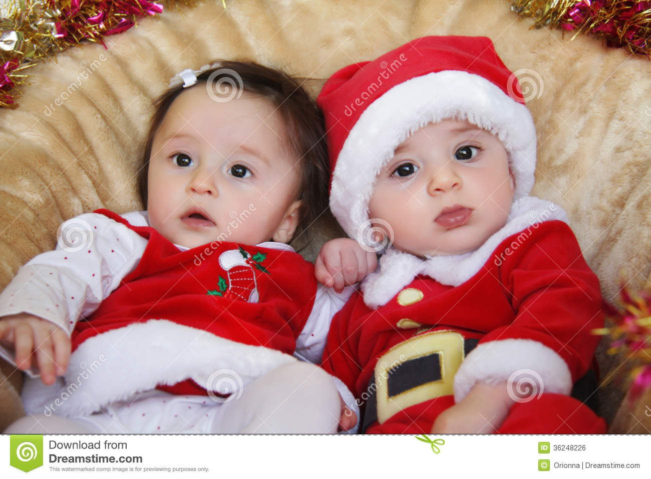 Funny Boy And Girl Baby Fraternal Twins...