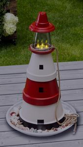 Photo of Make lighthouse from clay pots yourself – #from #lighthouse #make #self #tone …