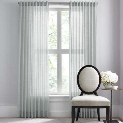 Buy Barbara Barry Dotted Sheer Rod Pocket/Back Tab 120 Inch Window Curtain  Panel