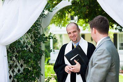 Groom Talks to Preacher During Wedding Ceremony