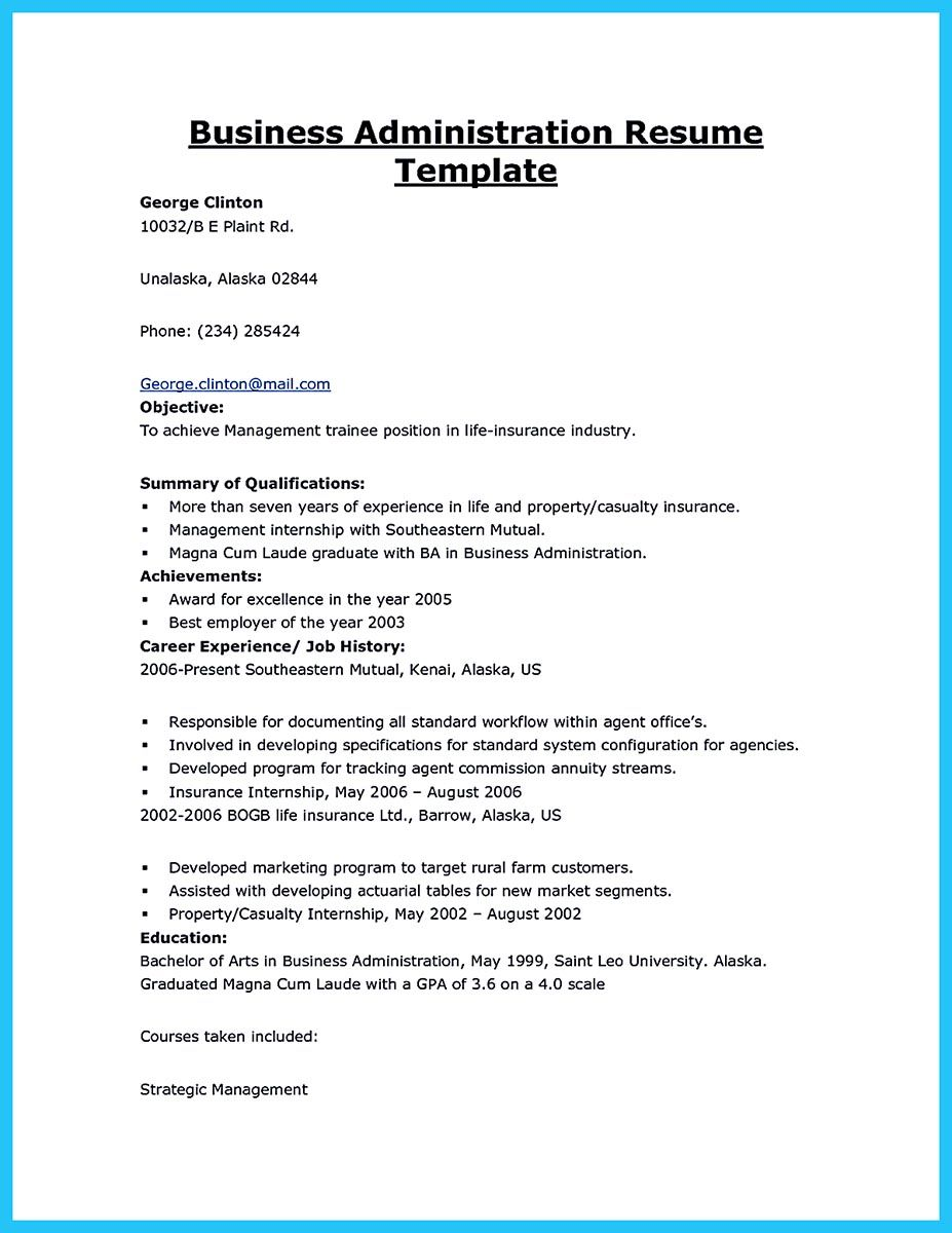 Usually The Recruiters Spend Ten Seconds Or Less To Review The Business Management Resume Before Those Business Administration Resume Examples Summary Writing