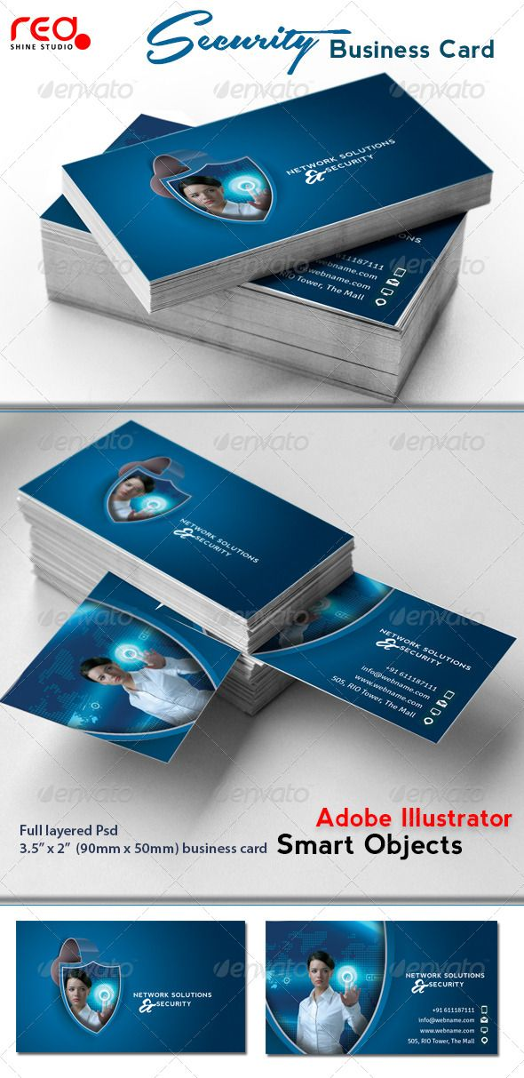 Network Solutions & Security Business Card | Network solutions ...