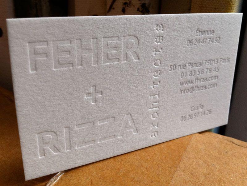 Carte De Visite Feher Rizza Architectes