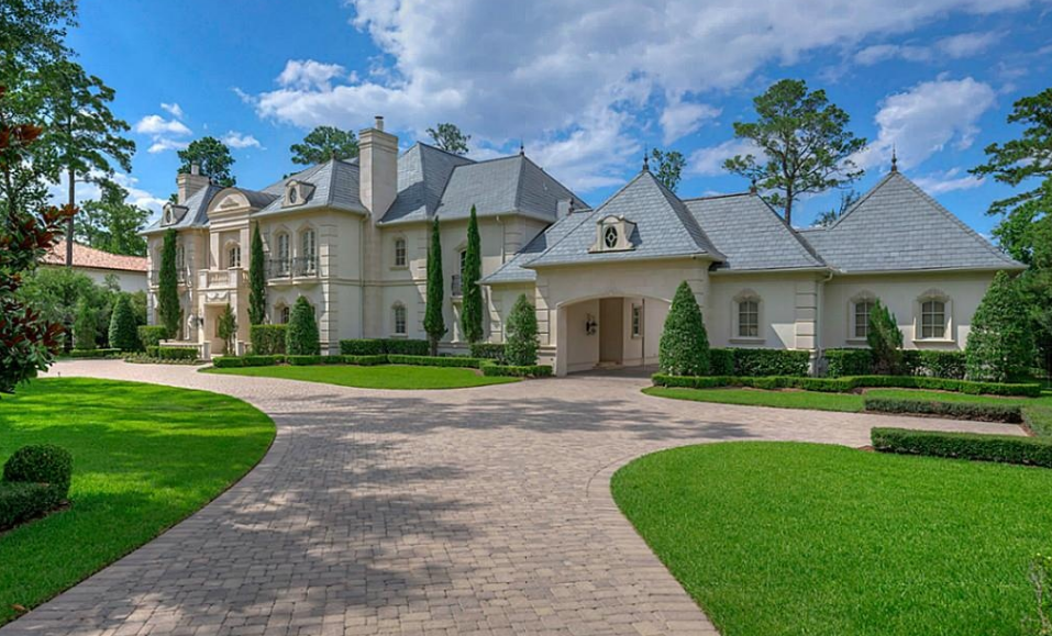 5 Million French Inspired Stone Stucco Mansion In Spring Tx