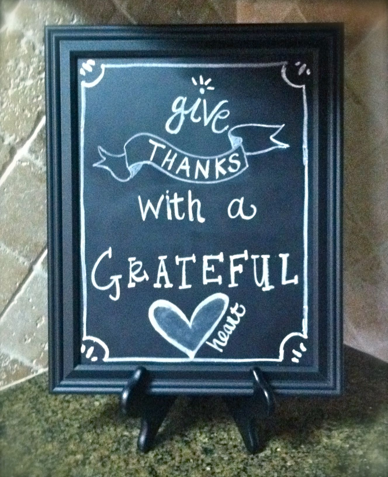 chalkboard made from picture frame + chalkboard spray paint ...