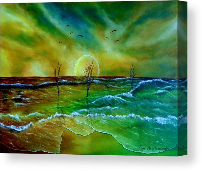 MYSTIC SUNSET ON THE SEA MODERN CANVAS WALL ART PRINT PICTURE READY TO HANG