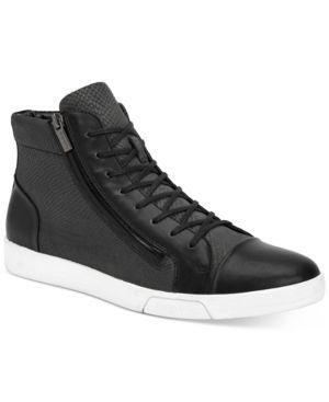 c79d59d51c8 Calvin Klein Men's Berke Embossed Leather Hi-Top Sneakers - Black 11 ...