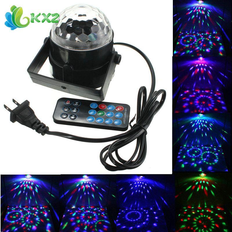 3 Watt RGB FÜHRTE Kristall Magische Kugel Licht Disco Weihnachten ...