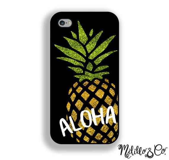 ... d6d70 02857 Aloha Glitter Pineapple Phone Case for Apple by  MililloAndCo competitive price ... e35d88bf9