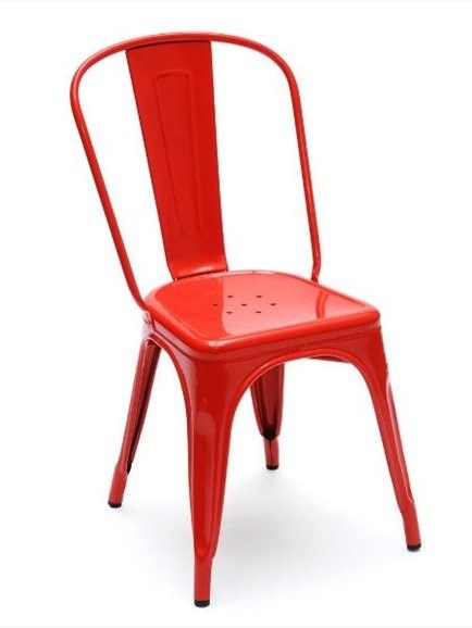 A Metal Chair By Tolix Tolix Chair Vintage Dining Chairs