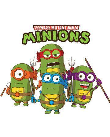 Les minions ces stars de la pop culture minions minion superhero et ninja - Mechant tortues ninja ...