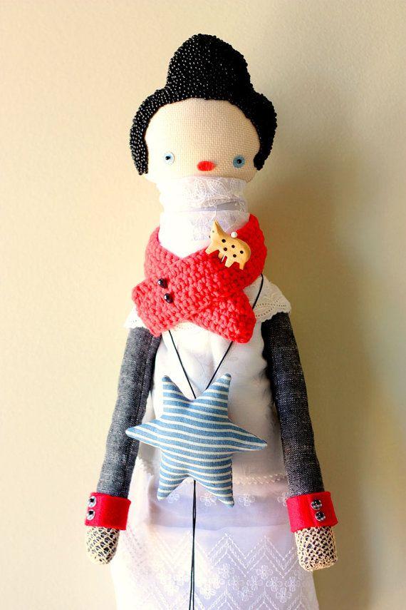 Antonia Handmade Art Doll by KupKupLand