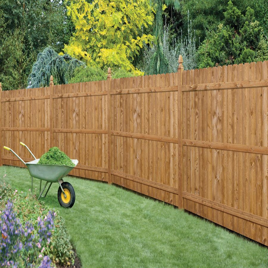 8 Backyard Ideas To Delight Your Dog: Shop Severe Weather Spruce Pine Fir Dog-Ear Wood Fence
