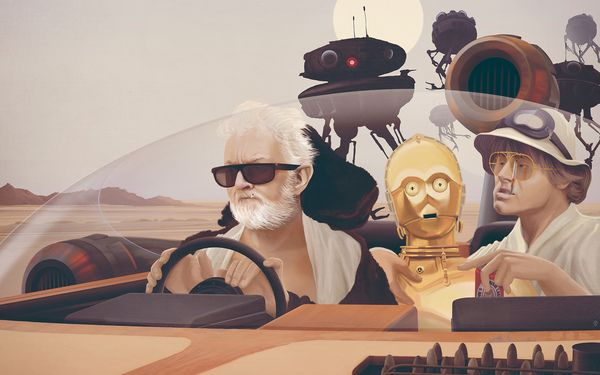 Fear And Loathing on Tatooine by Anton Marrast, via Behance