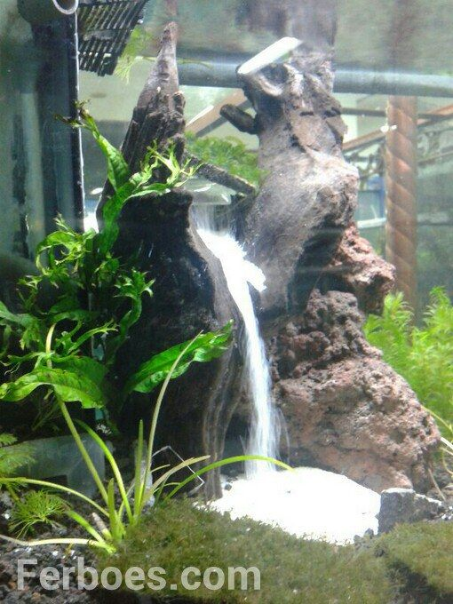 How to make a waterfall sand in the aquarium underwater aquariums and fish tanks - Gambar aquascape ...