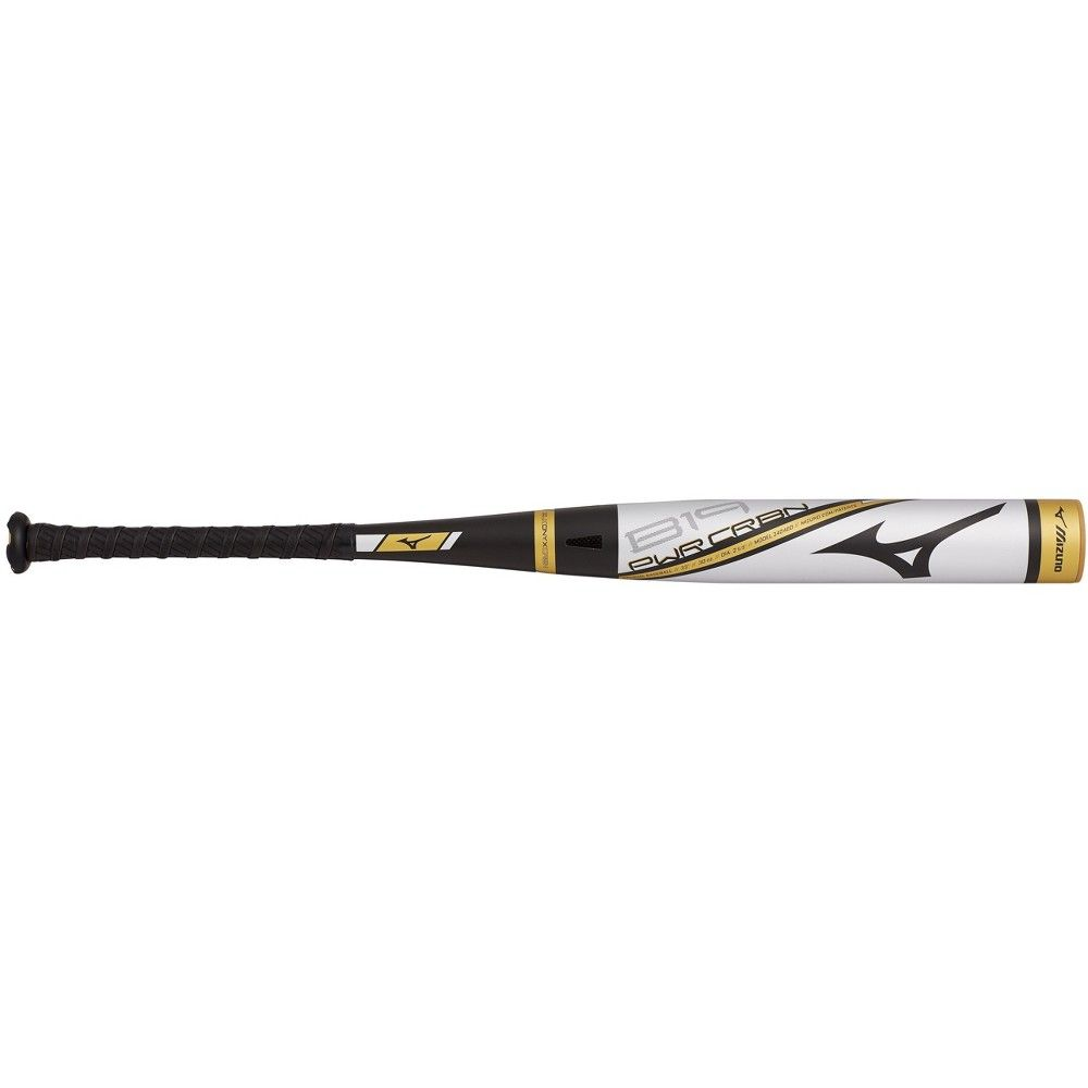 Mizuno B19 Pwr Crbn Bbcor Baseball Bat 3 Size 33 Inches In Color Silver Gold 7374 Baseball Bat