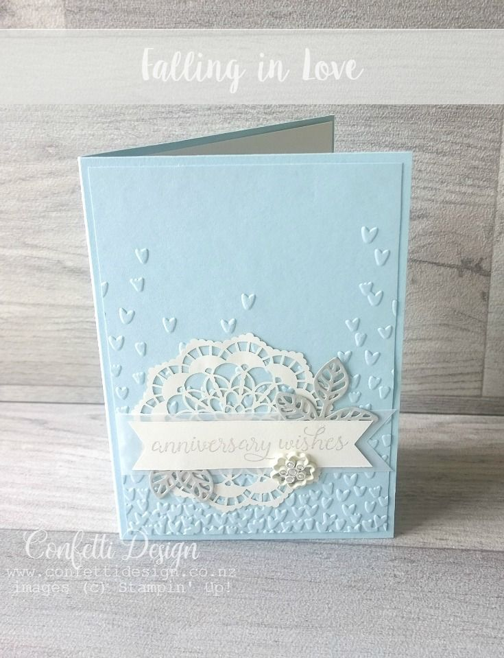 Beautiful Soft Sky Anniversary Card Wedding Anniversary Cards Cards Handmade Inspirational Cards