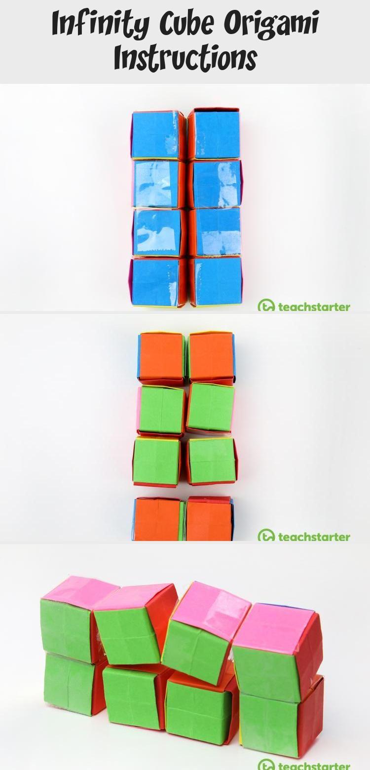 Photo of Infinity Cube Origami Instructions #origamiFacile #origamiOwl #origamiDress #Sim…