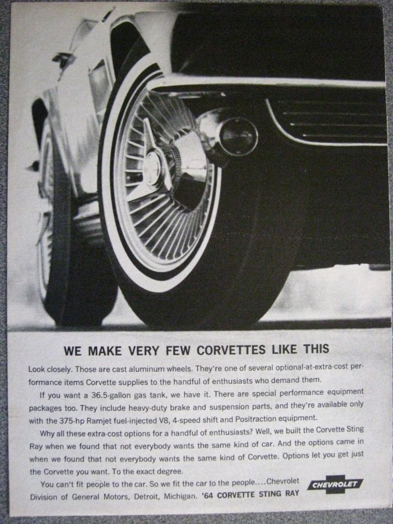 1964 Corvette Advertisement