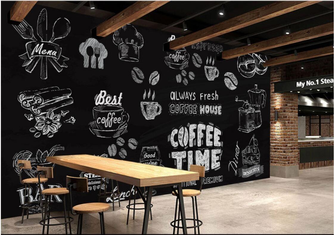 3d Room Wallpaper Custom Photo Non Woven Mural Hand Drawn Coffee Dessert Space Wallpaper Murals Wallpaper For Walls 3 D Widescreen Wallpapers Widescreen Wallpap Cafe Decor Coffee Shops Interior Coffee Shop