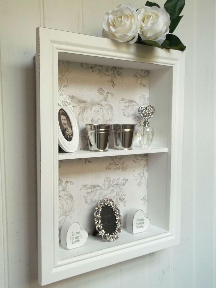 shabby chic wall unit shelf storage cupboard display cabinet