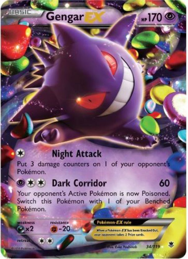 Details about Pokemon Phantom Forces Gengar-EX - 34/119