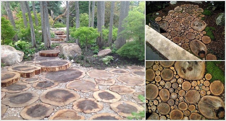 Create a Wood Slice Floor Outdoor Landscaping Pinterest Patios