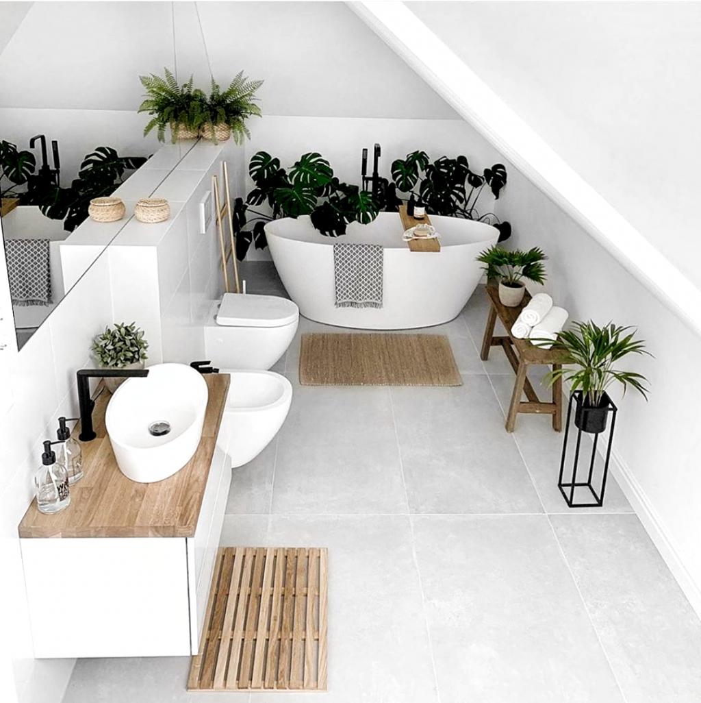 Badezimmer Einrichtung Deko Bathroom Decor Pflanzt Cosy Home Shots Auf Instagram Bevorzugen Sie Ein Bade In 2020 Badezimmer Dekor Badezimmer Einrichtung Mobel Kaufen