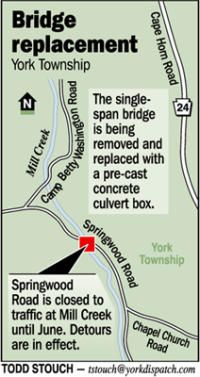 Springwood Road detour will stay in place until July - York Dispatch