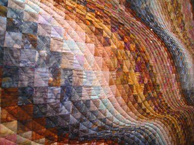 Bargello quilt detail - contemporary quilt design using the strip piece method