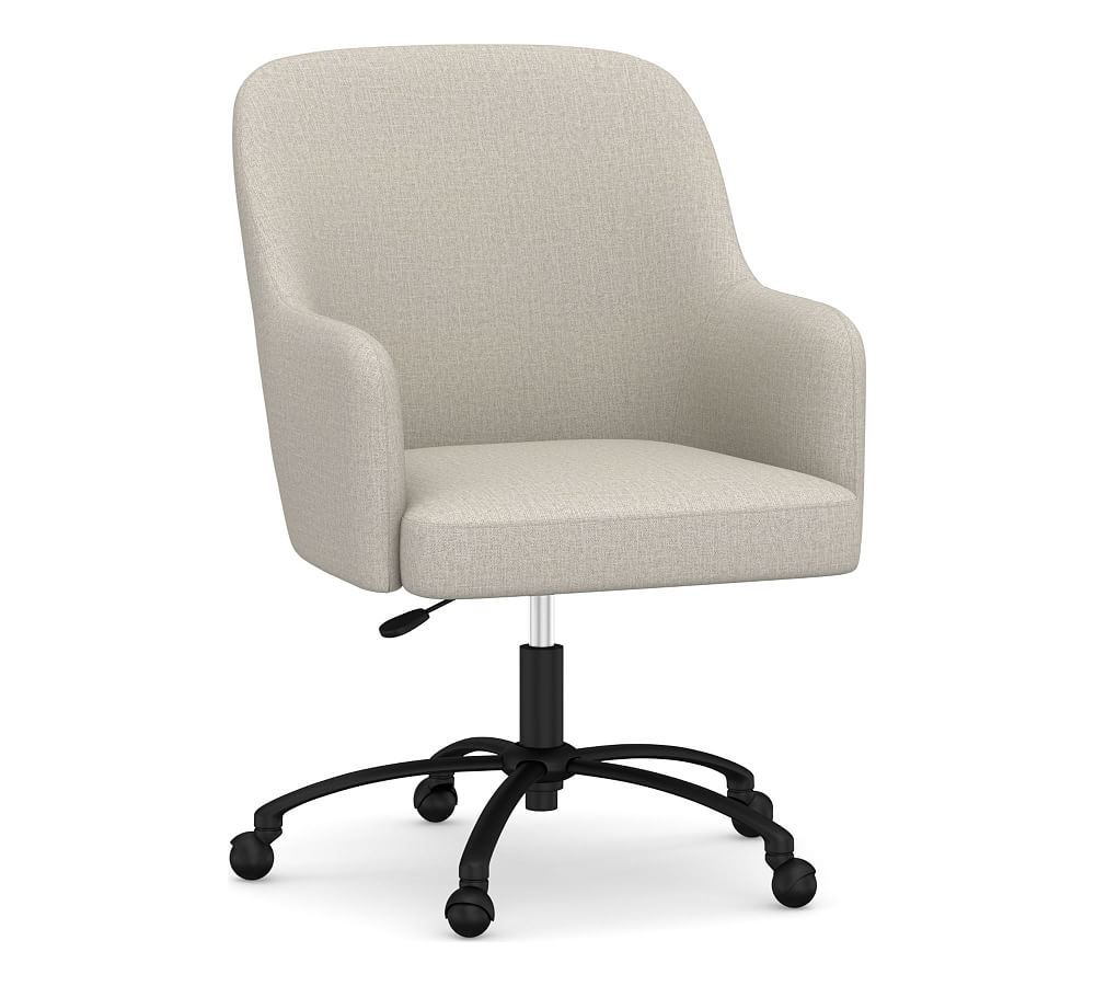 Dublin Upholstered Swivel Desk Chair Upholstered Desk Chair