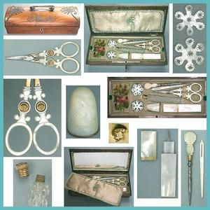 Mother of Pearl Tools Sewing Box C1819