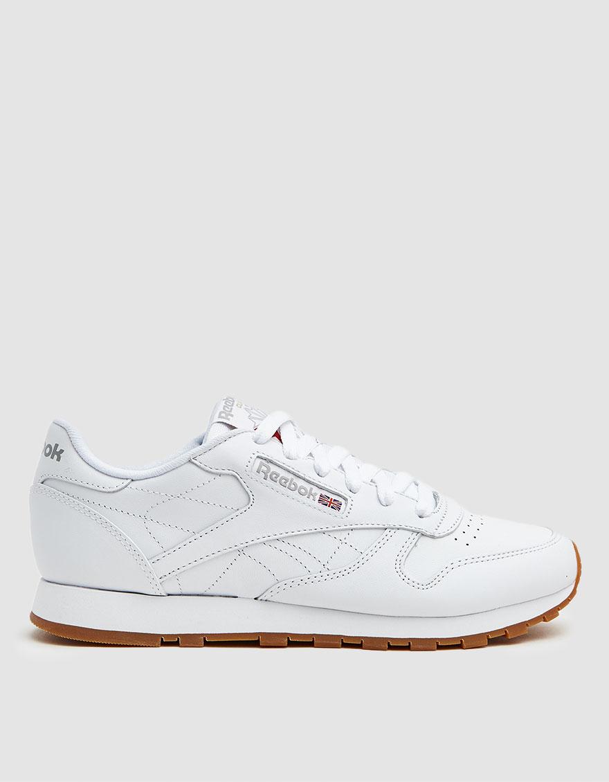 Reebok CL Leather Sneaker in WhiteLight GreyGum | Choose