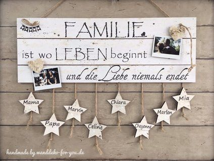 Family Signs Wooden With Names