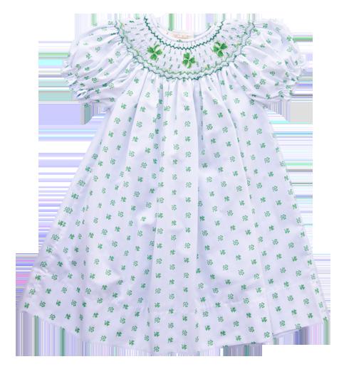 88d8bfd96 Rosalina Shamrock Smocked Dress - Baby/Toddler Girl | St. Patrick's ...