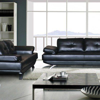 Hermosa Faux Leather Sofa And Loveseat Set By Tip Top Furniture