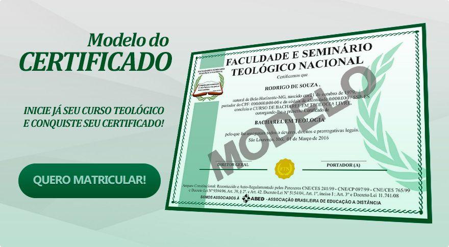 Modelo do Certificado de Teologia certificado provisorio Pinterest