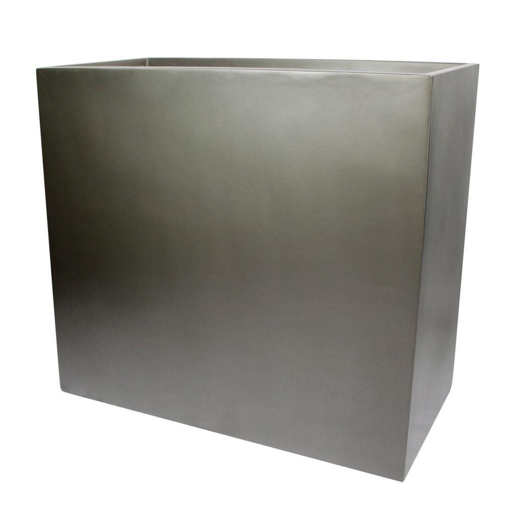 calistoga tall rectangle planter box  grey  planters and gardens - calistoga tall rectangle planter box  grey