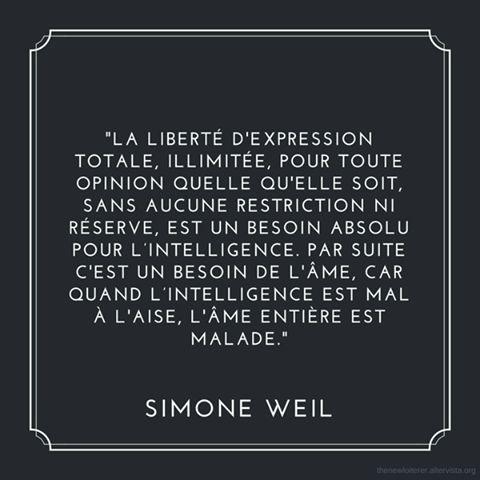 Je Suis Charlie Liberte D Expression Par Simone Weil Mosaiques