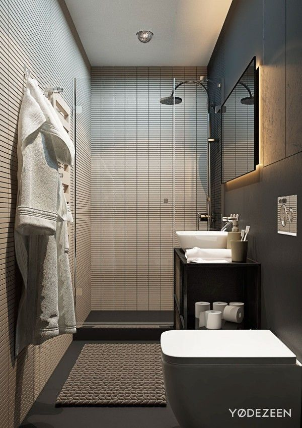 5 Small Studio Apartments With Beautiful Design Apartment Bathroom Design Small Apartment Bathroom Apartment Design