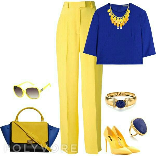 Clothing Royal Blue And Yellow