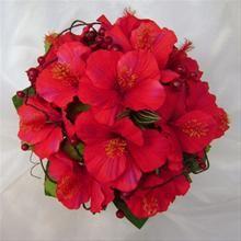 Red Hibiscus Flower Bouquet Wedding Ideas In 2019 Hibiscus