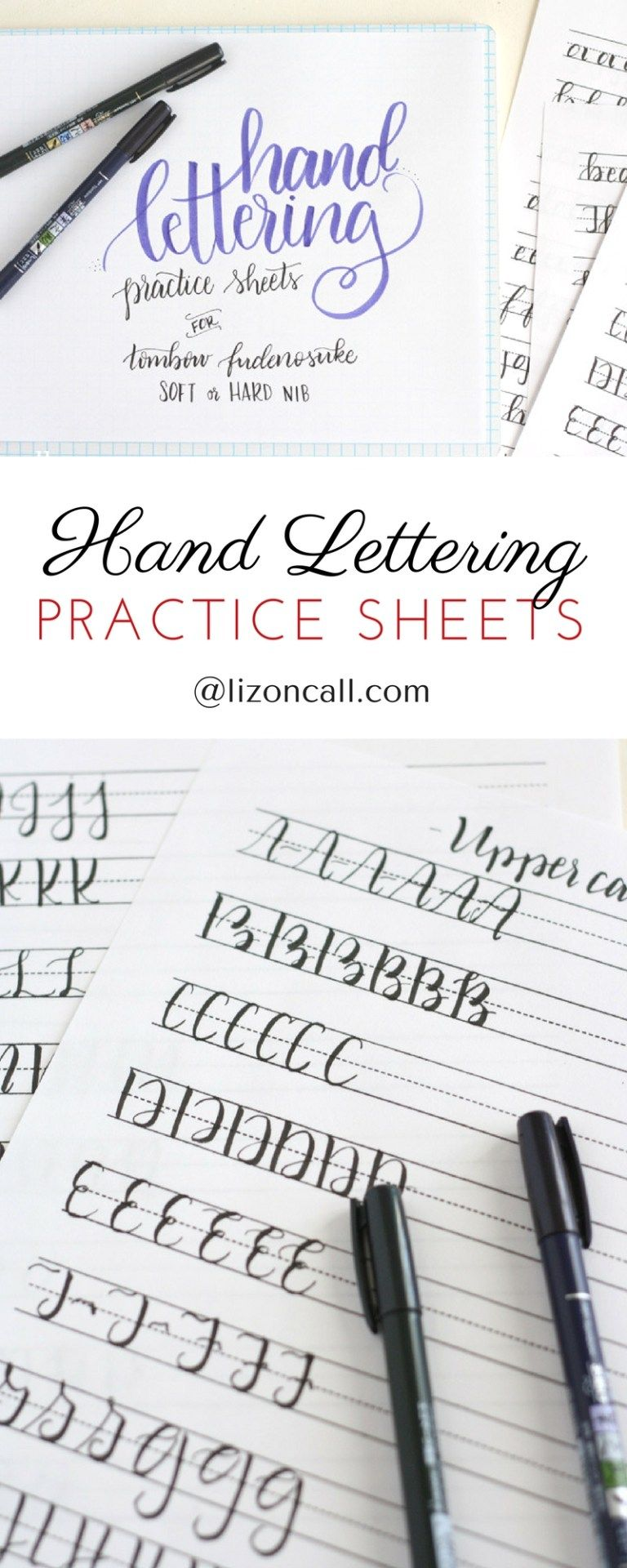 Free Printable Hand Lettering Practice Sheets is part of Brush lettering practice, Hand lettering practice sheets, Hand lettering, Lettering practice, Hand lettering practice, Hand lettering tutorial - These free printable hand lettering practice sheets are designed help you practice the strokes of each letter to build up that muscle memory