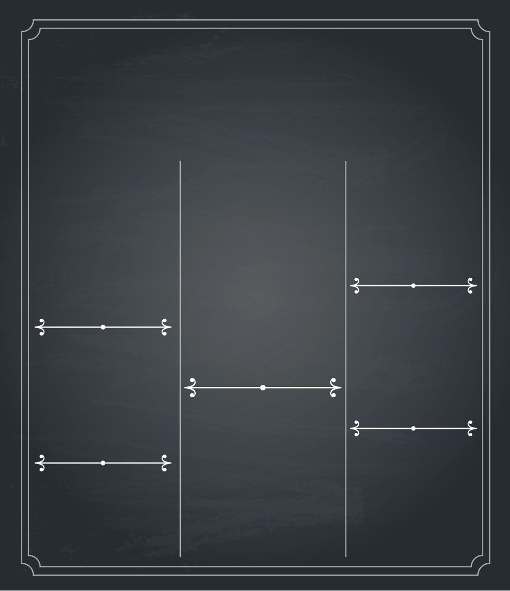 Chalkboard Molde Para Convite Quadro 3 Chalkboards