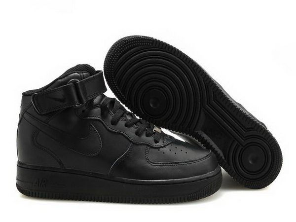 free shipping 74d90 d4e2e Women Nike Air Force One High Top Shoes 09 All Black