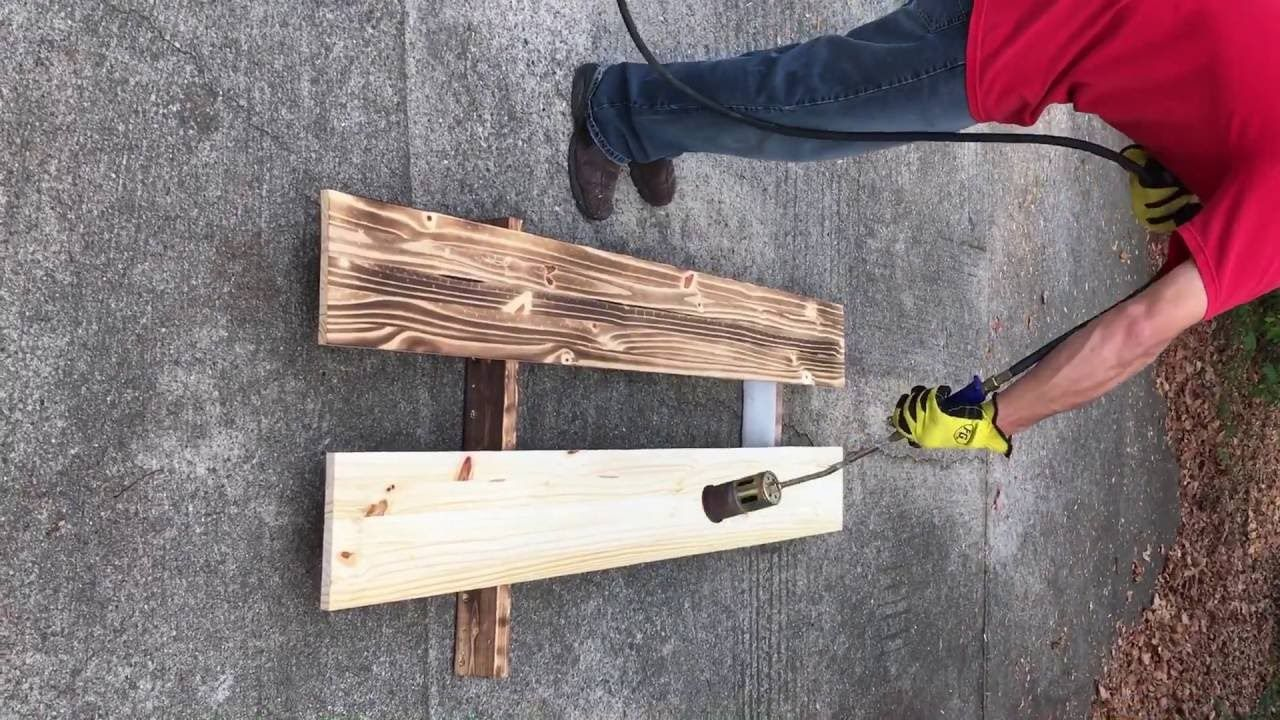 How To Do Burnt Wood Finish Burnt Wood Finish Diy Wood Wall Wood Finish